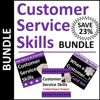 Customer Service Activities Use Real Life Work Situations And Examples To Teach This Job Skill Save 23 Compared To B Skills Activities Work Skills Activities