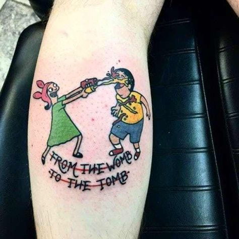 Is your love for the Belcher family so strong that you'd love to get a tattoo of one of your favorite Bob's Burgers characters permanently inked in your skin? These are some o the best tattoos of Tina, Louise, Gene, Bob, and Linda. Before you launch into your best Tina impersonation (