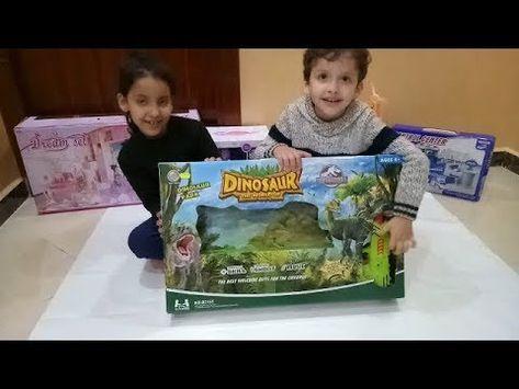 تحديات رمضان لعبة جديدة لعبة الرماية على الديناصورات ممتعة للاطفال Toys Lunch Box