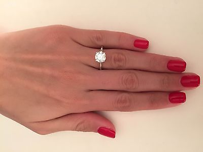 2 00 ct round cut d si1 diamond solitaire engagement ring 14k