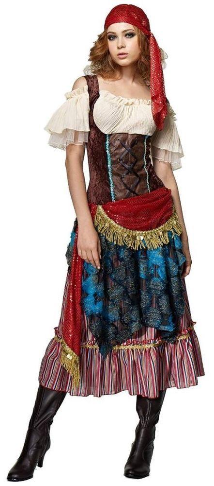 Gypsy Fortune Teller Costume Carnival Tarot Card Circus Side Show Vardo Psychic