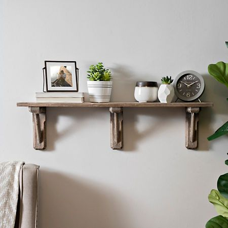 Natural Weathered Wood Decorative Wall Shelf Kirklands Bedroom Decor Design Wall Shelf Decor Decor