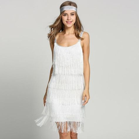 2017 Straps Summer Gatsby Women S Size Clothes Glam Women Costume Long  Clothing Party Tassels Flapper Beach Dresses Fringe Dress 61bc720ecde6