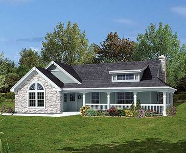 Plan 57105ha Two Bedroom Cottage With Garage And Shop Ranch House Plans Ranch Style Homes House Plans Farmhouse