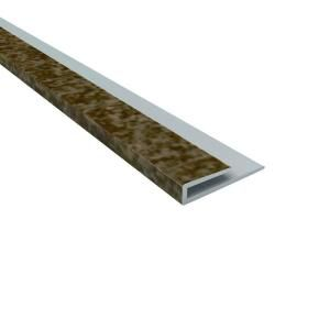 4 Ft Vinyl Smoked Pewter J Trim