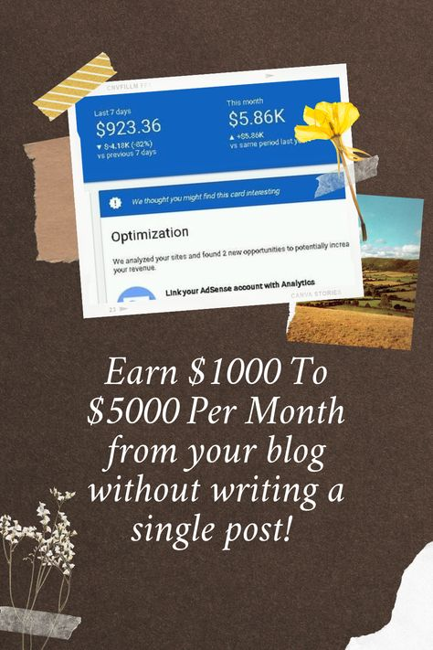 Earn $1000 To $5000 Per Month from your blog without writing a single post!