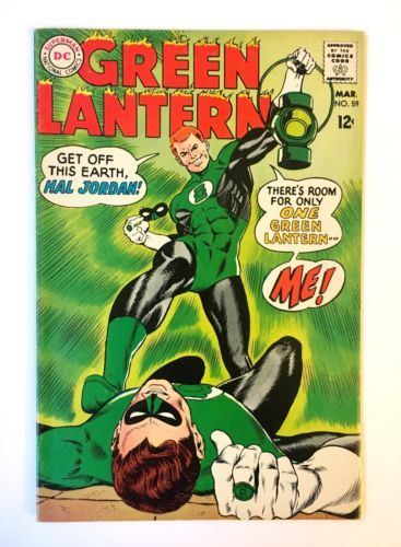 GREEN LANTERN #59 BEAUTIFUL UNRESTORED 1st Guy Gardner Hal Jordan 1968 CGC it!! | Comics, Comic books, Comic books art