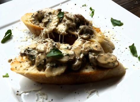 Breakfast   Breakfast, Creamy garlic mushrooms, Creamy garlic