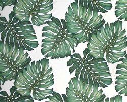 One metre of Monstera Leaf cotton twill tropical leaf Hawaiian beach…
