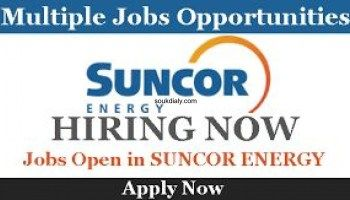 Offre D Emploi Recrutement Multi Sectoriels Suncor Energy How To Apply Job Opportunities