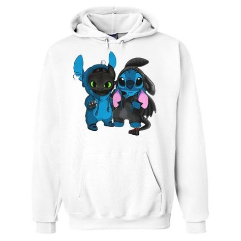 Buy Baby Toothless and Baby Stitch Hoodie This hoodie is Made To Order, one by one printed so we can control the quality. We use newest DTG Technology to print on to Baby Toothless and Baby Stitch Hoodie