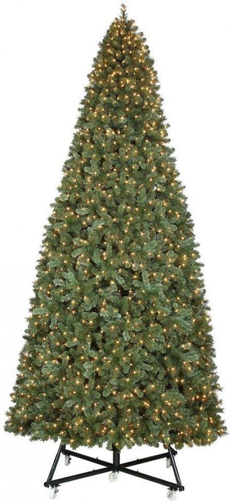 Home Accents Holiday 15 Ft Pre Lit Led Wesley Spruce Artificial Christmas Tree Fir Christmas Tree Christmas Tree Clear Lights White Lights Decor