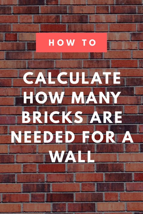 Brick Calculator Estimate The Bricks