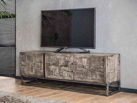 Meuble Tv Ambesia En Bois Massif Meuble Pour Le Salon Lotusea Meuble Tv Mobilier De Salon Meuble Tv Bois Massif