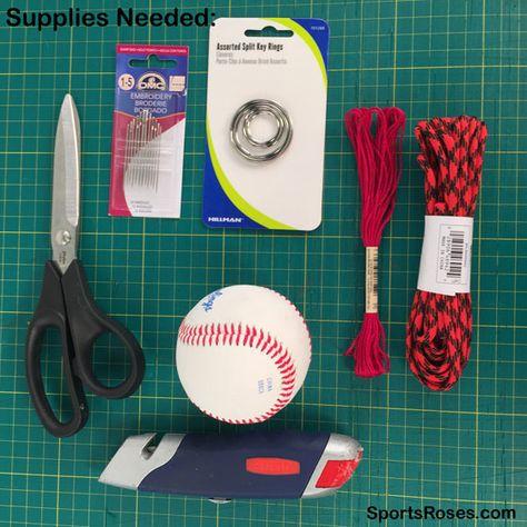diy baseball softball leather keychain supplies needed