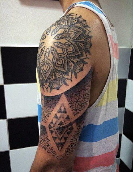 Geometric Half Sleeve Tattoo : geometric, sleeve, tattoo, Circle, Tattoos, Sacred, Geometry, Designs, Sleeve, Tattoos,, Tattoo,