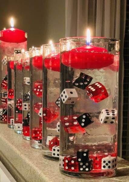 Trendy Birthday Table Centerpieces Casino Night Ideas