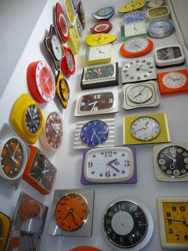 collection pendule années 60-70 design vintage formica