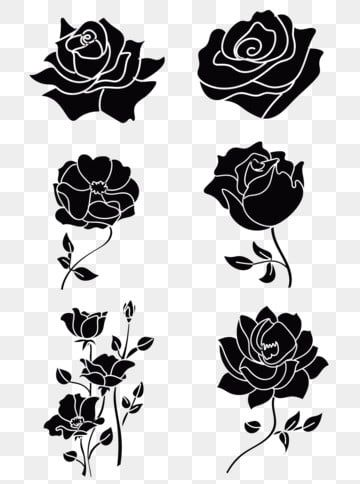 Black Cartoon Rose Material Black Cartoon Black Rose Png And Vector With Transparent Background For Free Download Cartoon Rose Black Cartoon Black Rose