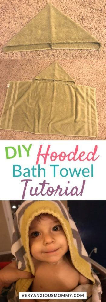 How to Make a DIY Hooded Bath Towel for Kids - Very Anxious Mommy