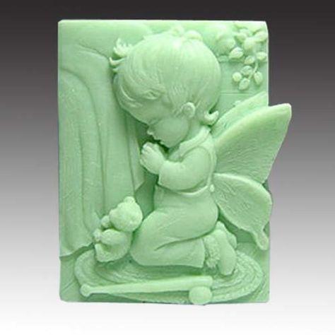 "3.3"" elfin Boy Pray 50251 Craft Art Silicone Soap mold Craft Molds DIY by Longzang, http://www.amazon.com/dp/B008FZ83NI/ref=cm_sw_r_pi_dp_WIOKqb1ZFC9BX"