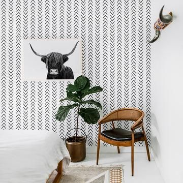 Black And White Honeycomb Wallpaper For The Busy Bees Honeycomb Design Is Very Calming And Timeless And Will Be A Goo Removable Wallpaper Boho Wallpaper Decor