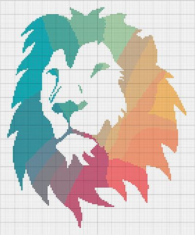 Lions Den Cross Stitch Chart//Pattern//Design//XStitch