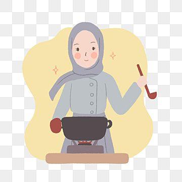 طاه فتاة ترتدي الحجاب الطبخ التوضيح بأسلوب مرسومة باليد فتاة فتاة التوضيح توضيح Png وملف Psd للتحميل مجانا How To Draw Hands Hijab Cartoon Cute Illustration