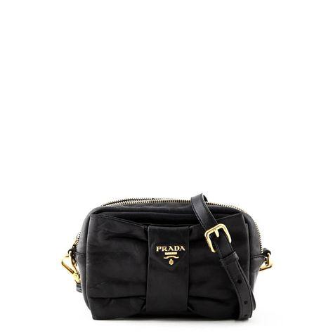 a9abd59a8c62 Prada Black Nappa Bow Crossbody - LOVE that BAG - Preowned Authentic  Designer Handbags