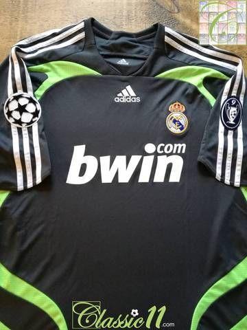 2007 08 Real Madrid 3rd Champions League Football Shirt Xl Football Shirts Champions League Football Champions League
