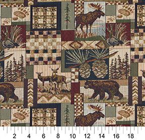 Classic Route 66 Motels Diners And Gas Pumps Themed Tapestry Upholstery Fabric By The Yard Pattern # A011