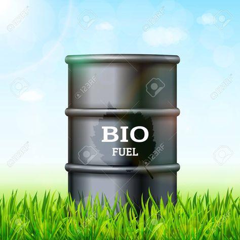 Metal barrel with bio fuel on the green grass background vector , #Affiliate, #bio, #fuel, #Metal, #barrel, #background