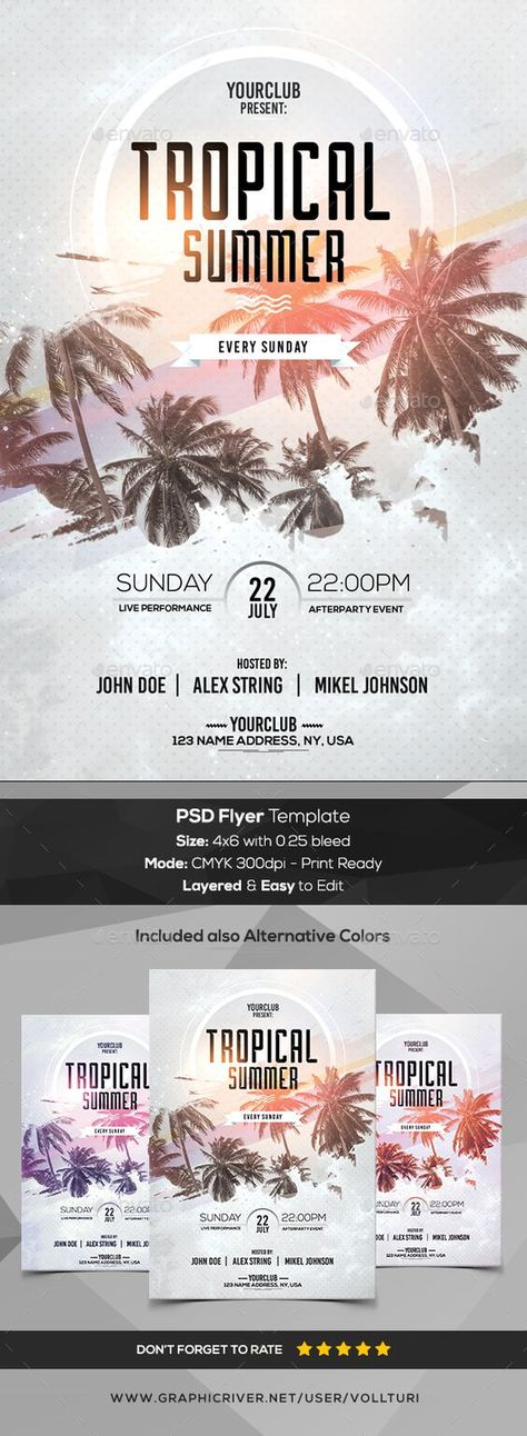 Tropical Summer - PSD Flyer