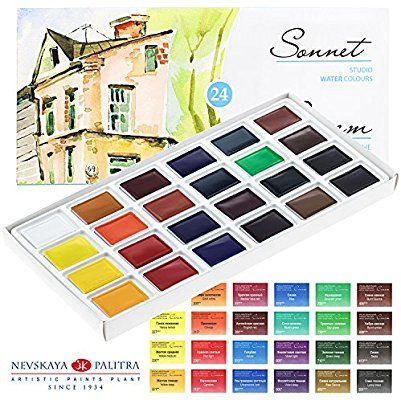 Aquarellfarbe Set Hochwertig Zur Auswahl 16 Oder 24 Farben