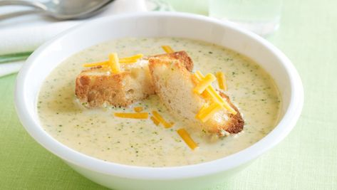 """Jodi Picoult's Broccoli Cheddar Soup: Our weekends are hectic. There's the play rehearsal, the skating lesson, my son's a cappella group. We all look forward to a good soup on Sunday night. It's a time to sit down and relax (and figure out who still has homework to do). We dip bread in our soup and talk about what we've done over the past few days and what we'll be doing the following week. I hope my kids will think of these Sundays someday when they see broccoli-cheddar soup on a menu."""""""