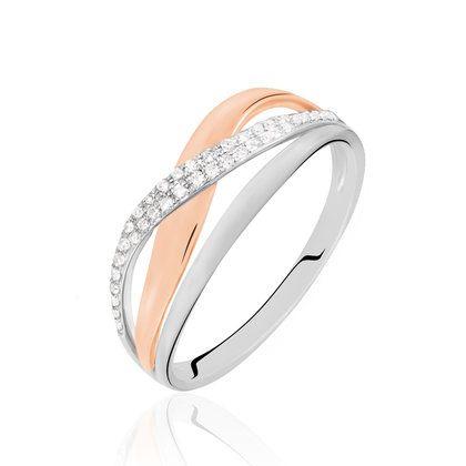 Incroyable Bague Or Bicolore et Diamants - B3DF2IF002H - Histoire d'Or NL-57
