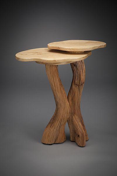 Zwei Ebenen Beistelltisch Von Aaron Laux Holz Beistelltisch