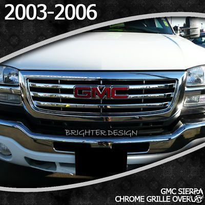 Gmc Sierra Chrome Grille Overlay Factory Style 2003 2006