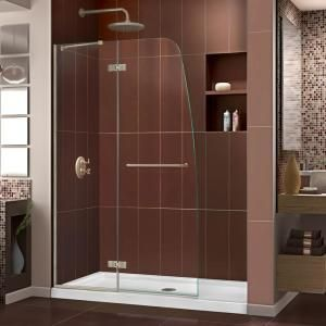 Dreamline Aqua Uno 34 5 16 In X 58 In Frameless Hinged Tub Door In Chrome Shdr 3534586 01 The Home Depot In 2020 Shower Doors Frameless Hinged Shower Door Tub To Shower Conversion