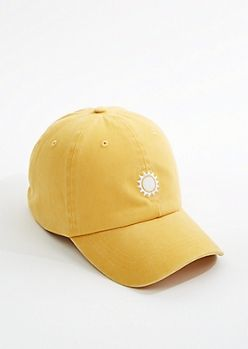 4bd0a4c2169ff Solid Plain Washed Mustard Yellow Baseball Cap Strapback Dad Hat Low  Profile