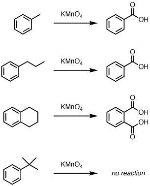MnO4 oxidation of a methyl to a carboxylic acid