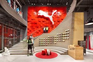 plajer & franz studio is happy to share the latest news. the PUMA store in osaka was awarded with the euroshop retail design award 2014 for best store concept