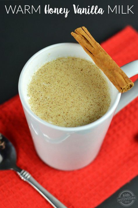 How to Get Kids on Sleep Schedule with Warm Honey Vanilla Milk - this recipe is awesome and I think I will try it for myself!