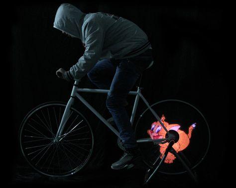 Custom Gif Bike Wheels Are Lit Bike Wheel Bike Creators Project
