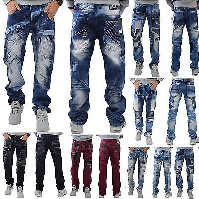 Cipo /& Baxx Uomo Jeans Mens PANTS CASUAL Star Pantaloni all sizes NUOVI