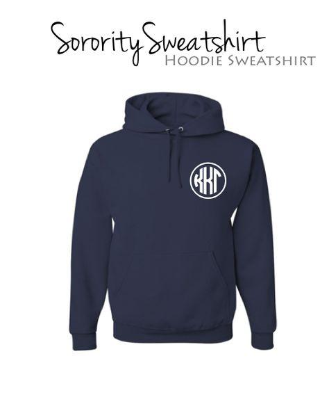 Kappa Kappa Gamma Hoodie Sweatshirt with monogram design. $34.98