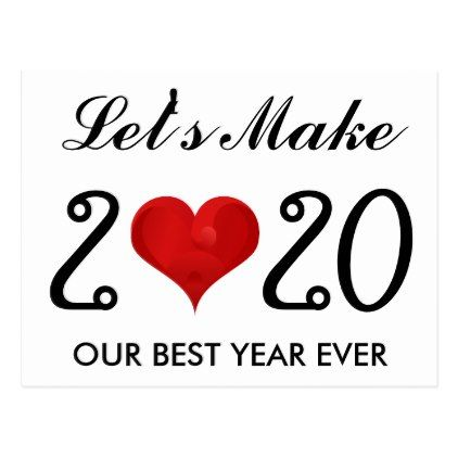 New Year Quotes 2020 Images Happy New Year 2020 Motivational Quote Heart Holiday Postcard