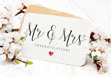 Heer & mevrouw afdrukbare bruiloft kaart Gefeliciteerd bruid #afdrukbare #bruid #bruiloft #gefeliciteerd #kaart #mevrouw