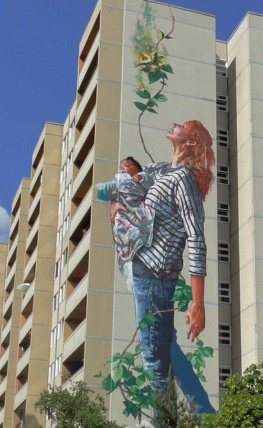 Best Germany Berlin Images On Pinterest Germany Berlin - Building in berlin gets transformed by amazing 137 foot tall starling mural
