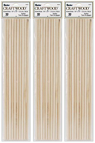3pack Dowel Rod Wood 14 X 12 Inches 10 Pieces Per Pack 30 Total Rods Click Image To Review More Details This Is An Affiliate Link Dowels Rods Wood